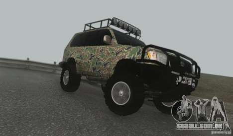 Toyota Land Cruiser 100 Off Road para GTA San Andreas esquerda vista