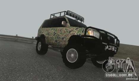 Toyota Land Cruiser 100 Off Road para GTA San Andreas esquerda vista