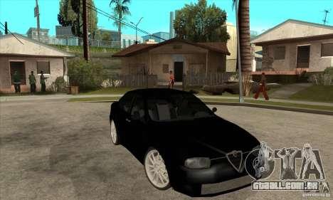 Alfa Romeo 156 Light Tune para GTA San Andreas vista traseira