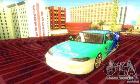 Nissan Silvia S15 8998 Edition Tunable para GTA San Andreas traseira esquerda vista