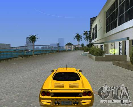 Saleen S7 para GTA Vice City vista traseira esquerda