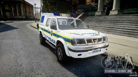 Nissan Frontier Essex Police Unit para GTA 4 vista de volta