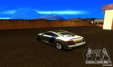 Audi R8 V12 TDI para GTA San Andreas esquerda vista