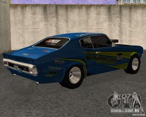 Chevrolet Chevelle SS 1970 para GTA San Andreas esquerda vista