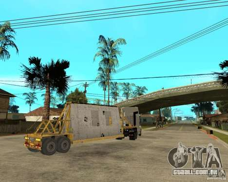 Patch reboque v_1 para GTA San Andreas vista traseira