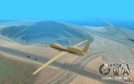 Grumman RQ-4 para GTA San Andreas traseira esquerda vista