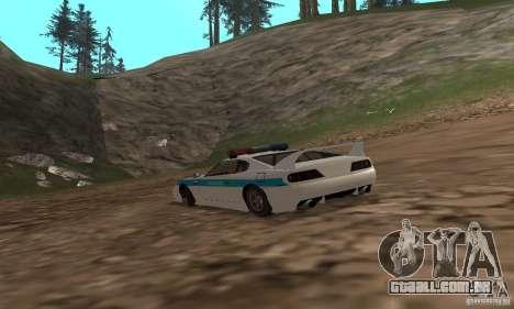 Jester Russian Police para GTA San Andreas traseira esquerda vista
