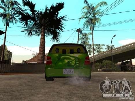 Volkswagen Touran The Hulk para GTA San Andreas traseira esquerda vista