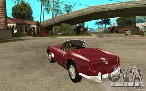 Ferrari 250 California 1957 para GTA San Andreas traseira esquerda vista