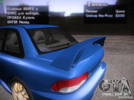 Subaru Impreza 22b Tunable para o motor de GTA San Andreas