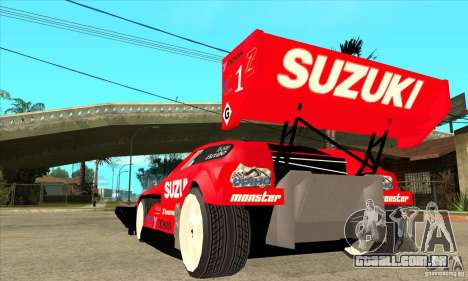 Suzuki Escudo Pikes Peak V2.0 para GTA San Andreas traseira esquerda vista