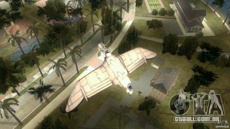 The Valley Gunship para GTA Vice City vista traseira esquerda