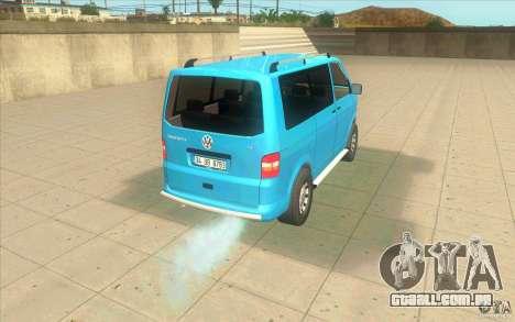 Volkswagen Caravelle para GTA San Andreas traseira esquerda vista