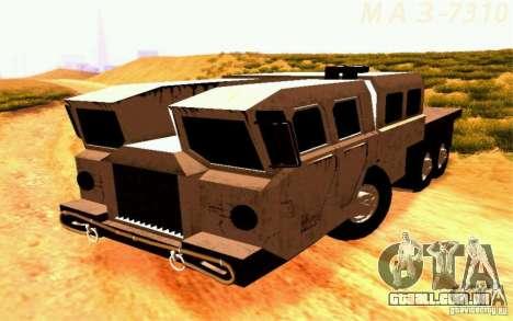 Maz-7310 Civil versão estreita para GTA San Andreas