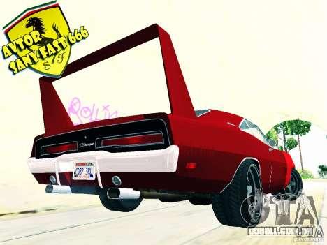 Dodge Charger Daytona Arman 6 para GTA San Andreas esquerda vista