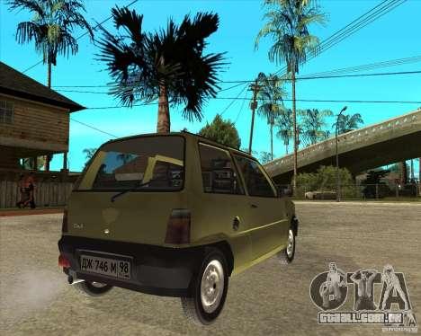 OKA 1111 Kamaz para GTA San Andreas traseira esquerda vista