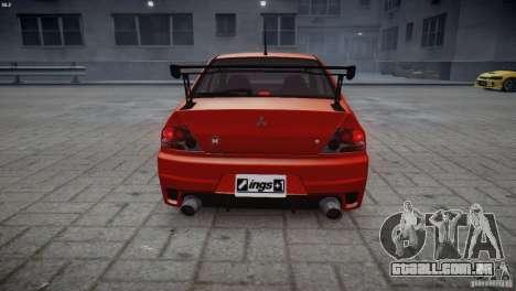 Mitsubishi Lancer Evolution 8 v2.0 para GTA 4 traseira esquerda vista