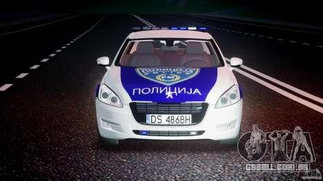 Peugeot 508 Macedonian Police [ELS] para GTA 4 vista inferior
