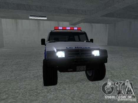 LAÇO patriota de GTA 4 para GTA San Andreas traseira esquerda vista