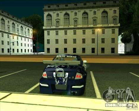 Nissan Sentra para GTA San Andreas traseira esquerda vista