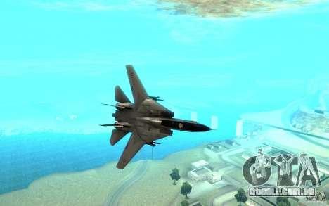 F-14A Screaming Eagles VF-51 para GTA San Andreas vista traseira