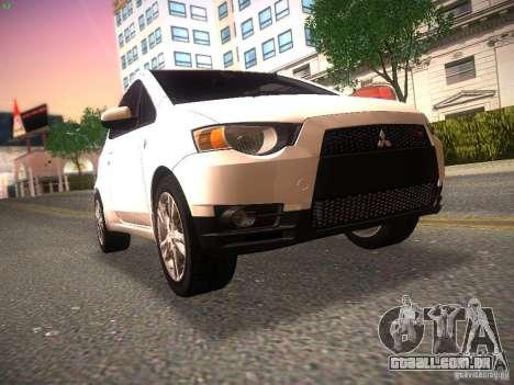 Mitsubishi Colt Rallyart para GTA San Andreas esquerda vista