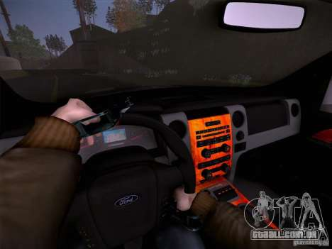 Ford Raptor Police para GTA San Andreas vista superior