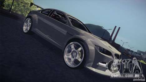 BMW M3 E92 Tuned para vista lateral GTA San Andreas