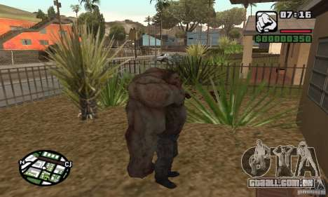 Tanque do Left 4 Dead para GTA San Andreas terceira tela