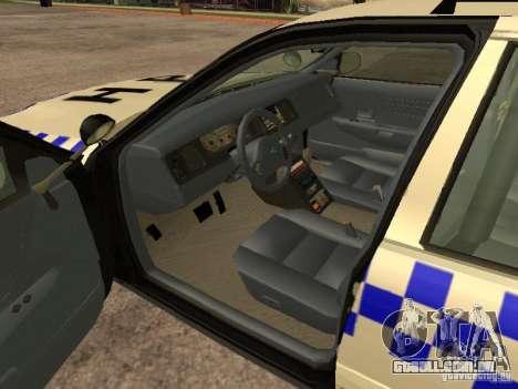 Ford Crown Victoria NSW Police para GTA San Andreas traseira esquerda vista