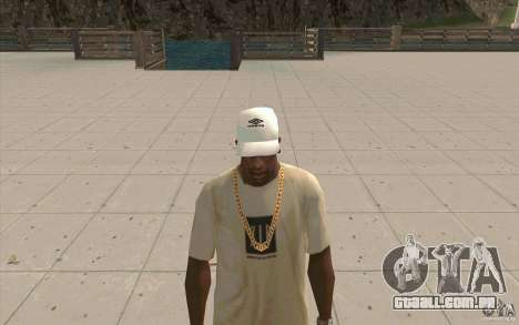 Umbro Cap white para GTA San Andreas segunda tela
