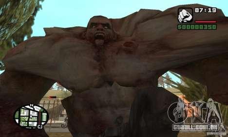 Tanque do Left 4 Dead para GTA San Andreas por diante tela