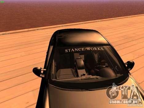 Infiniti G35 V.I.P para GTA San Andreas vista interior