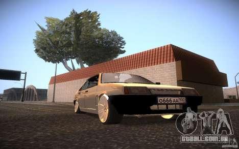 VAZ 21099 LifeStyle Tuning para GTA San Andreas traseira esquerda vista