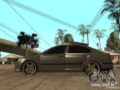 Skoda Octavia Custom Tuning para GTA San Andreas esquerda vista