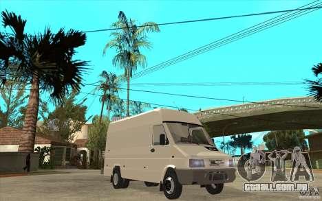 Iveco Turbo Daily para GTA San Andreas vista traseira
