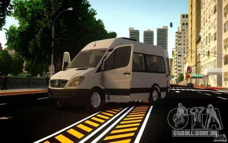 Mercedes-Benz Sprinter Passenger para GTA 4 traseira esquerda vista