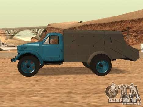 Caminhão de lixo de GAZ-51 para GTA San Andreas esquerda vista