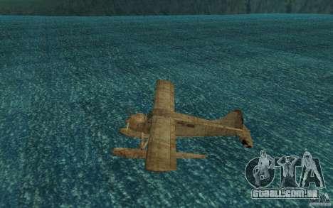 De Havilliand Beaver DHC2 para GTA San Andreas traseira esquerda vista