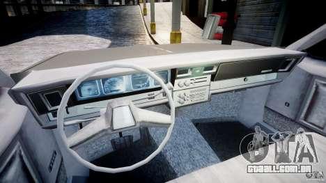 Chevrolet Impala 1983 para GTA 4 vista de volta