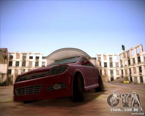 Opel Astra Saturn para GTA San Andreas traseira esquerda vista