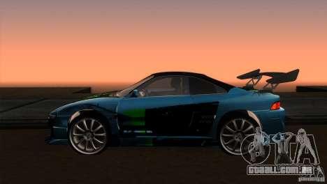 Toyota MR2 Drift para GTA San Andreas esquerda vista