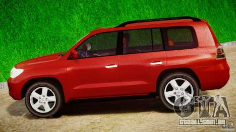 Toyota Land Cruiser 200 2007 para GTA 4 vista interior