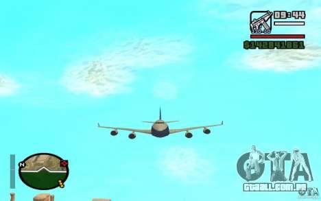 Boeing 747 serie 8 para GTA San Andreas vista direita