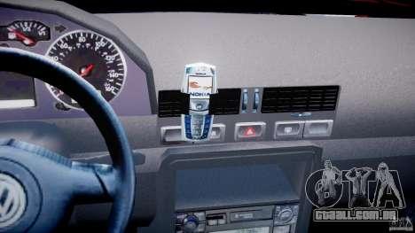 Volkswagen Bora para GTA 4 vista inferior
