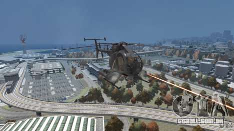 New AH-6 Little Bird para GTA 4 vista de volta