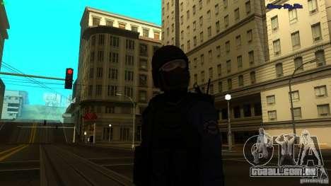SWAT Officer para GTA San Andreas segunda tela