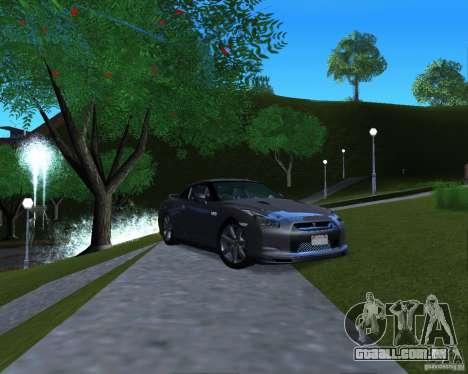 Nissan GTR R35 para GTA San Andreas traseira esquerda vista