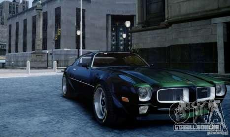 Pontiac Firebird 1971 para GTA 4 traseira esquerda vista