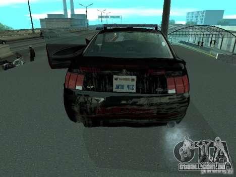 Ford Mustang GT Police para GTA San Andreas vista interior